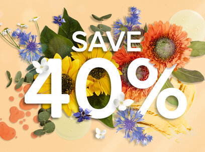 Save 40% on selected products